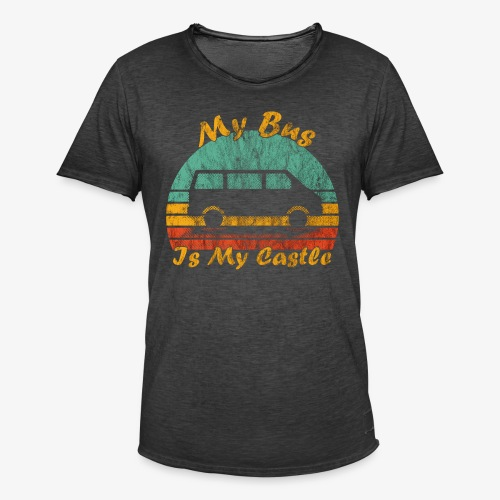 My Bus Is My Castle (Washed) - Männer Vintage T-Shirt