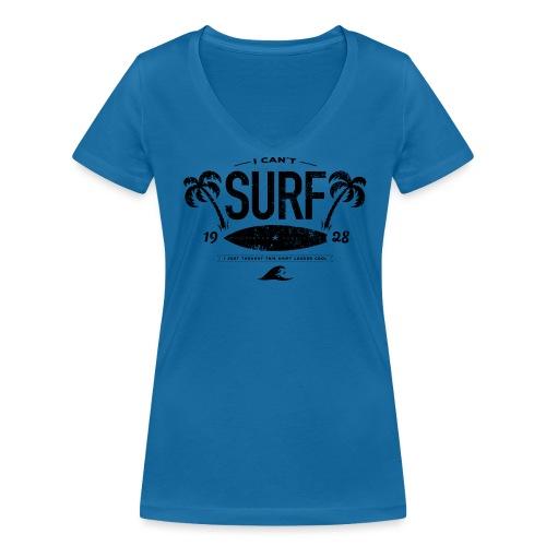 I can't surf vrouwen v-hals bio - Vrouwen bio T-shirt met V-hals van Stanley & Stella