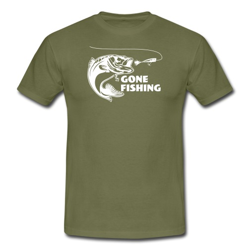 Gone fishing - T-shirt herr