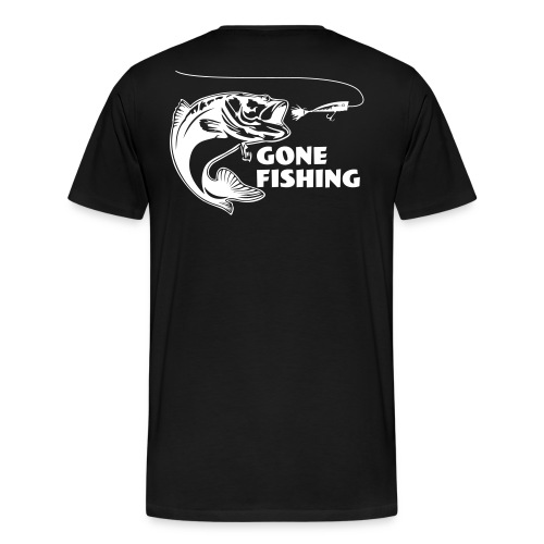 Gone fishing - Premium-T-shirt herr