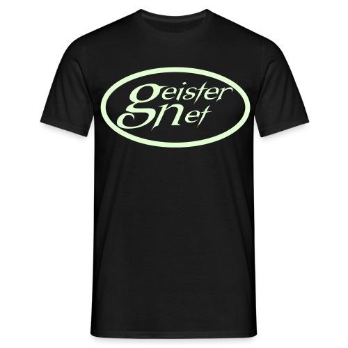GeisterNet-Comfort T Glow-Logo  - Männer T-Shirt