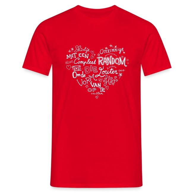 Hart mannen t-shirt