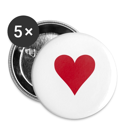 Love Heart Pins - Buttons large 56 mm