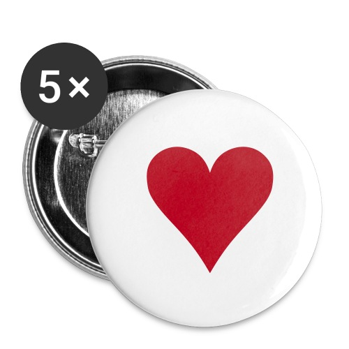 Small love heart Pin - Buttons small 25 mm