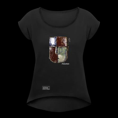 Aduma Black Mask ( F ) - T-shirt à manches retroussées Femme
