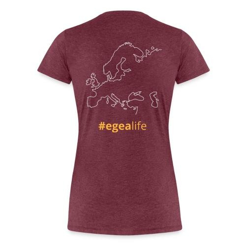 T-Shirt EGEA travel map - WOMEN - Women's Premium T-Shirt