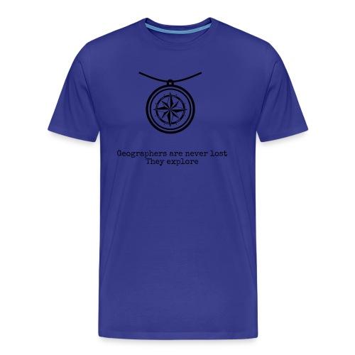 T-Shirt Geographers are never lost - MEN - Men's Premium T-Shirt