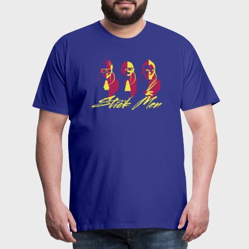 Stick Men Blue Yellow Red Adult - Men's Premium T-Shirt