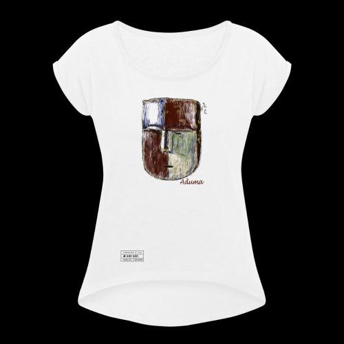 Aduma White Mask ( F ) - T-shirt à manches retroussées Femme