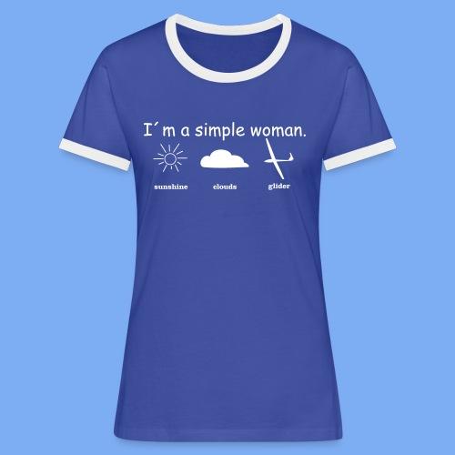Segelflieger T-Shirt lustiger Spruch Geschenk Motor - Women's Ringer T-Shirt