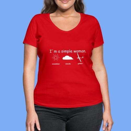 Segelflieger T-Shirt lustiger Spruch Geschenk Motor - Women's Organic V-Neck T-Shirt by Stanley & Stella