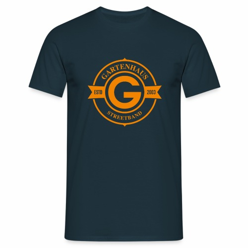 Gartenhaus T-Shirt Men / oranges Logo - Männer T-Shirt