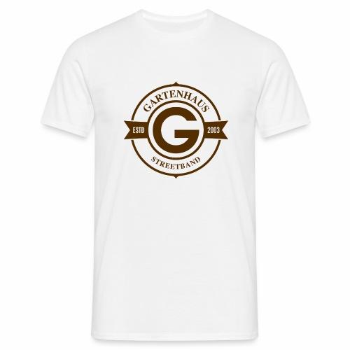 Gartenhaus T-Shirt Men / braunes Logo - Männer T-Shirt