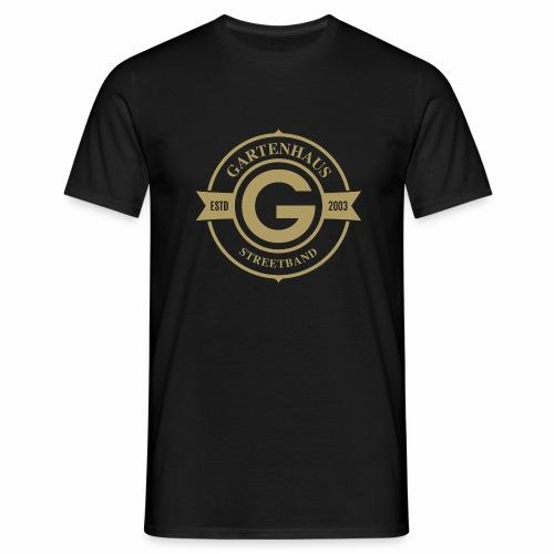 Gartenhaus T-Shirt Men / goldenfarbiges Logo - Männer T-Shirt