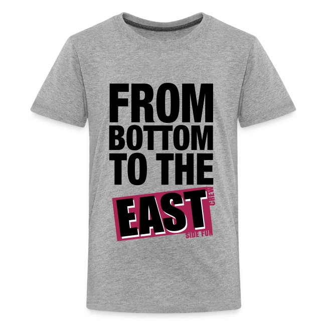 """T-Shirt Teenager """"From Bottom to the East"""""""