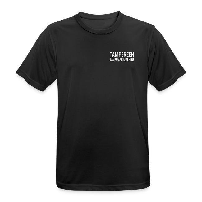 Tekninen t-paita, valkoinen painatus, miesten malli