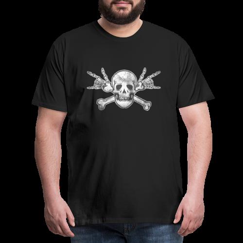 Deaf Skull with ILY Handsign Vintage - Männer Premium T-Shirt
