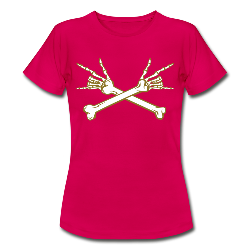 Deaf Skull with ILY Handsign GOLD - Frauen T-Shirt