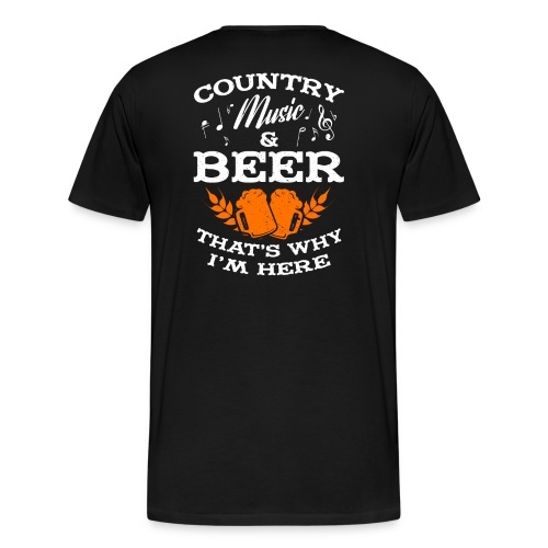 Country musik and beer - Männer Premium T-Shirt