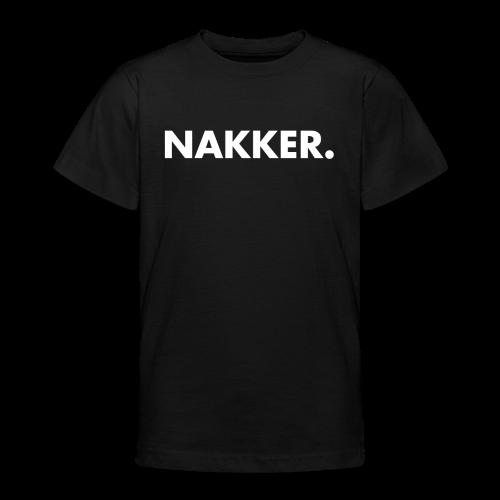 Nakker Shirt Zwart - Teenager T-shirt