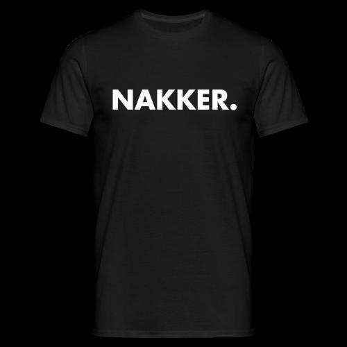 Nakker Shirt Zwart Mannen - Mannen T-shirt