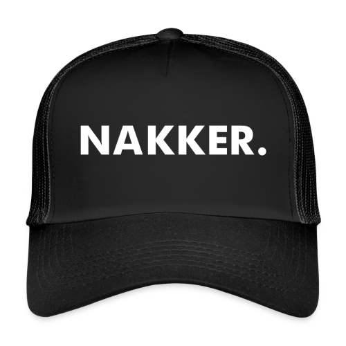 Nakker Cap Zwart - Trucker Cap