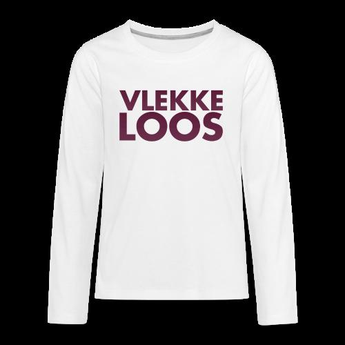 Vlekkeloos Sweater Wit - Teenager Premium shirt met lange mouwen