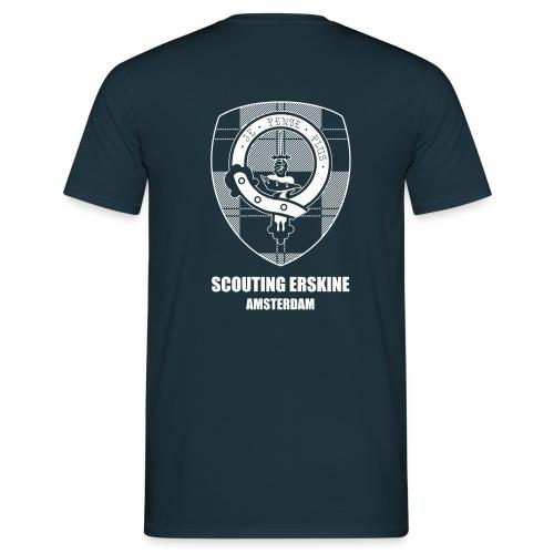 T-shirt met logo Erskine achter en eigennaam voorop - Mannen T-shirt