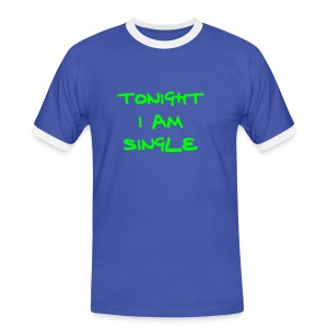 I am single - Mannen contrastshirt