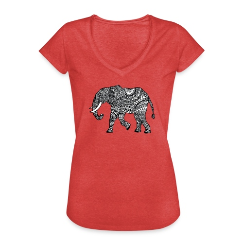 lässiges Damen-Shirt mit Elefant  - Frauen Vintage T-Shirt