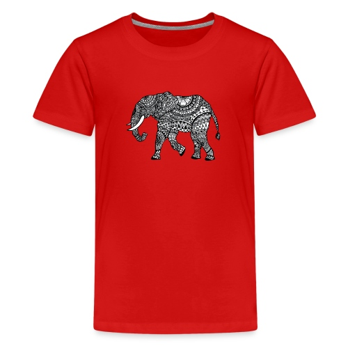 lässiges Kinder-Shirt mit Elefant  - Teenager Premium T-Shirt