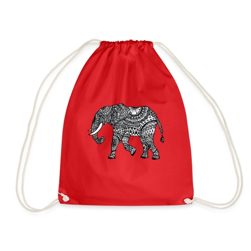 Turnbeutel mit Elefant - Turnbeutel