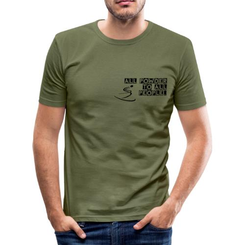 Powder to the People - Men's Slim Fit T-Shirt