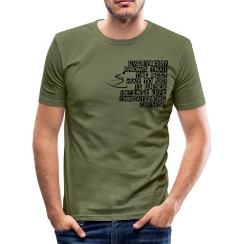 Ski Under Crisis - Men's Slim Fit T-Shirt
