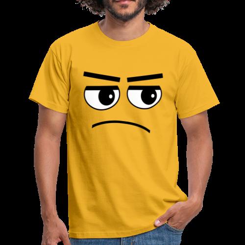 Pessimist Genervt Schlechte Laune Gesicht T-Shirt - Männer T-Shirt