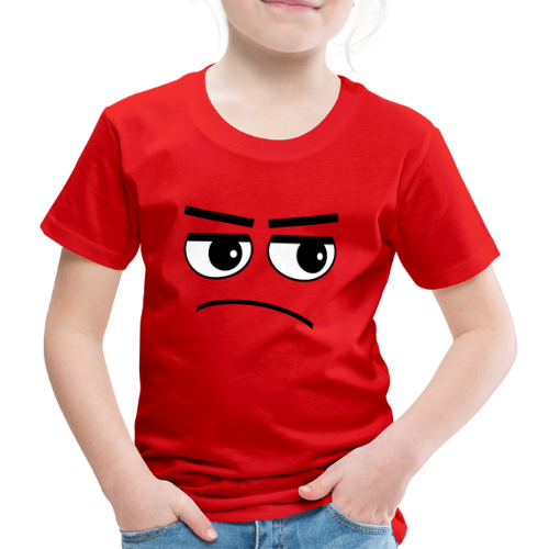 Pessimist Genervt Schlechte Laune Gesicht Kinder T-Shirt - Kinder Premium T-Shirt