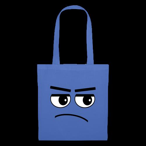 Pessimist Genervt Schlechte Laune Gesicht Tasche - Stoffbeutel