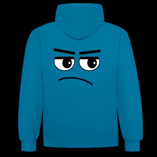 Pessimist Genervt Schlechte Laune Gesicht Hoodie - Kontrast-Hoodie
