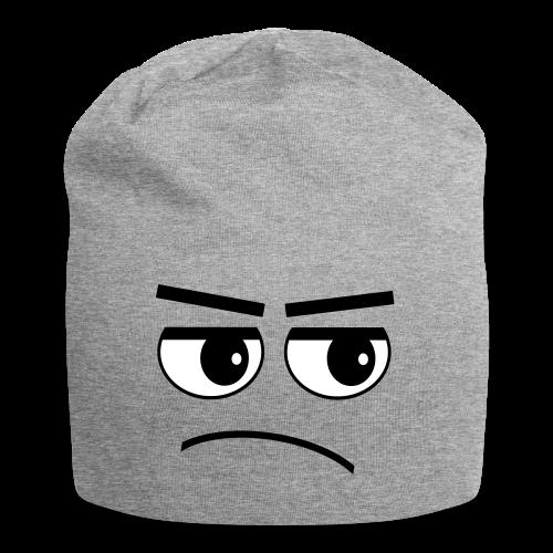Pessimist Genervt Schlechte Laune Gesicht Beanie - Jersey-Beanie