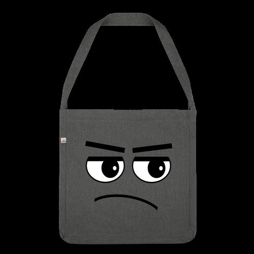 Pessimist Genervt Schlechte Laune Gesicht Tasche - Schultertasche aus Recycling-Material