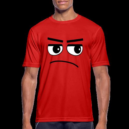 Pessimist Genervt Schlechte Laune Gesicht Sport T-Shirt - Männer T-Shirt atmungsaktiv