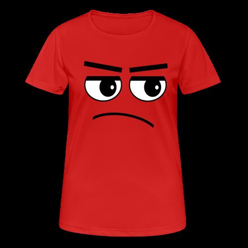 Pessimist Genervt Schlechte Laune Gesicht Sport T-Shirt - Frauen T-Shirt atmungsaktiv