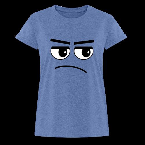Pessimist Genervt Schlechte Laune Gesicht T-Shirt (Übergröße) - Frauen Oversize T-Shirt