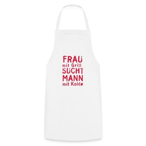 Frau mit Grill  - Kochschürze