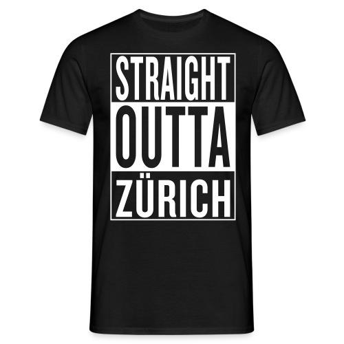 Straight outta Zürich Männer T-Shirt - Männer T-Shirt