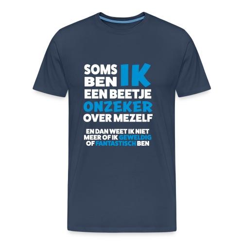 Grappig Shirt over onzekerheid - Mannen Premium T-shirt