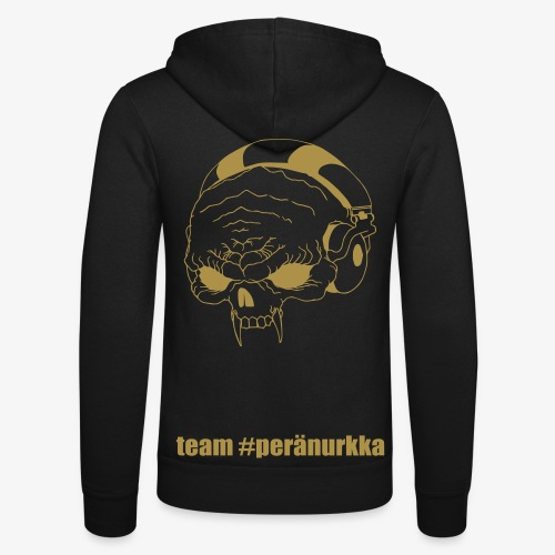 #peränurkka GOLD edition -vetoketjuhuppari - Unisex Hooded Jacket by Bella + Canvas