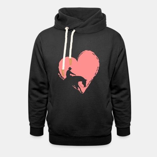 Reining mit Herz Damen Pullover - Schalkragen Hoodie