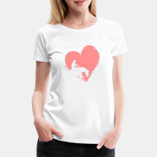 Reining mit Herz Frauen Shirt - Frauen Premium T-Shirt