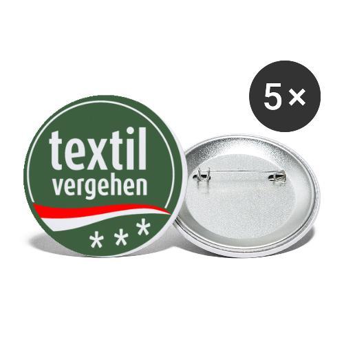 Textilvergehen-Button - Buttons klein 25 mm (5er Pack)
